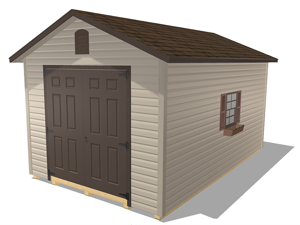 Ranch gable outdoor storage sheds vinyl siding