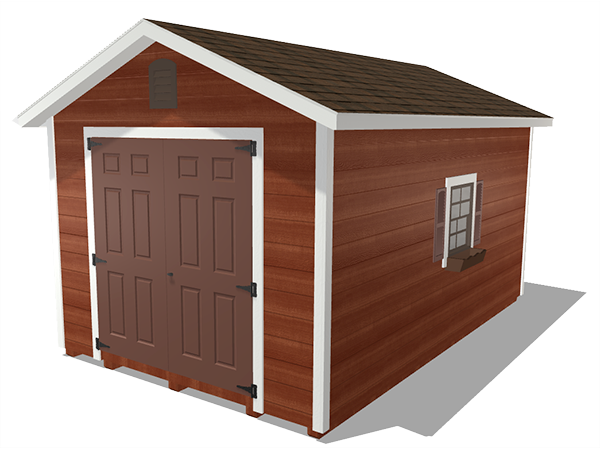 Ranch gable outdoor storage sheds wood lap