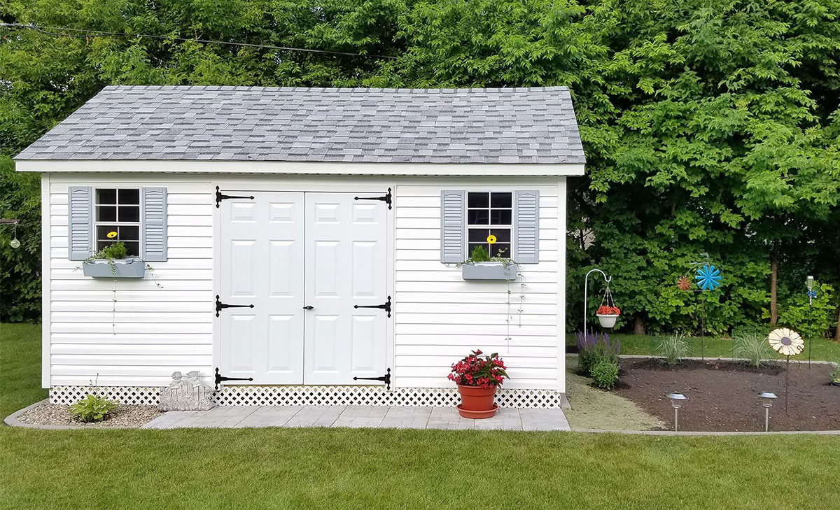 Ranch gable outdoor storage sheds