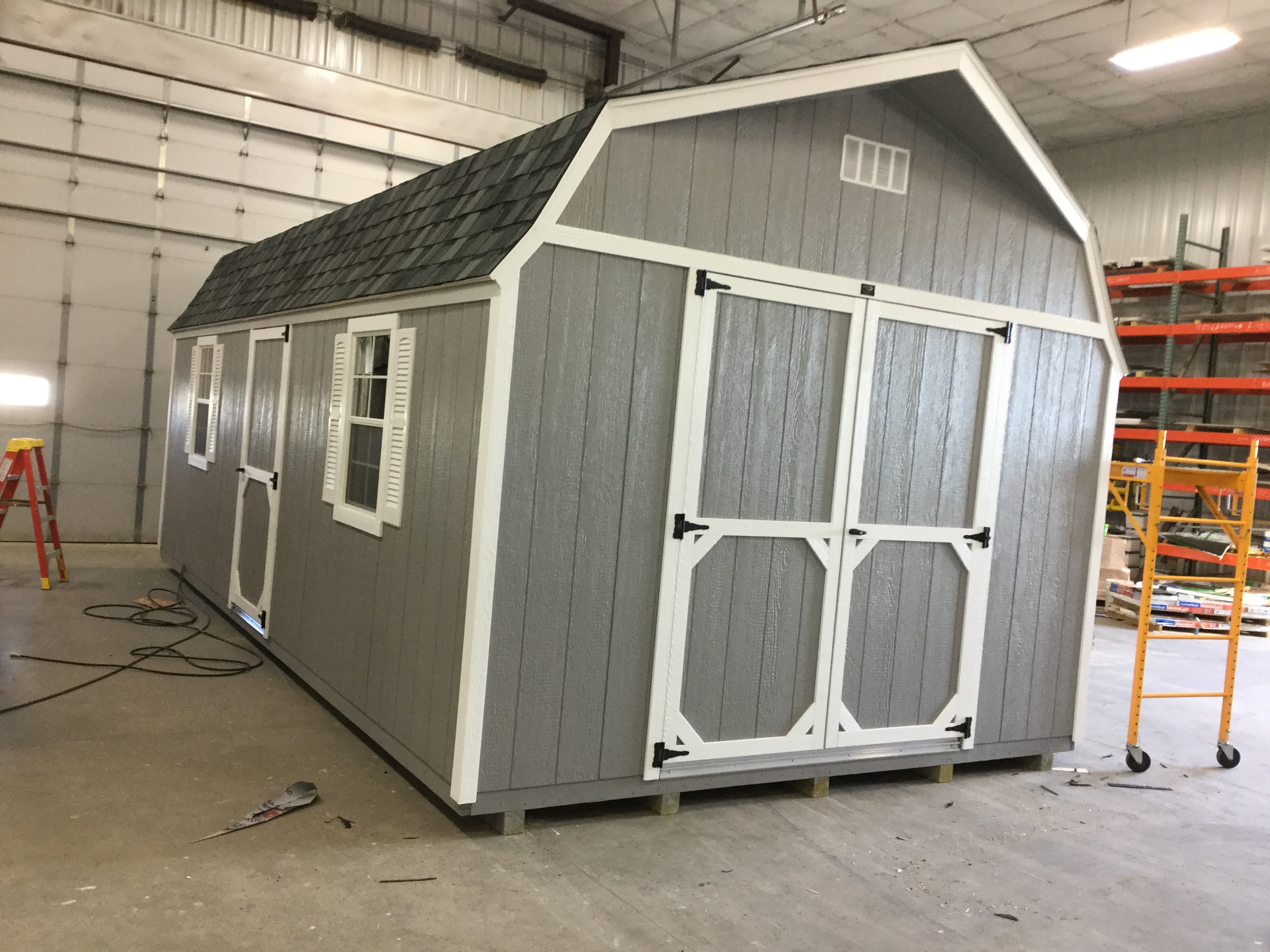 12x24 High Barn Style Wood Shed For Sale 23502