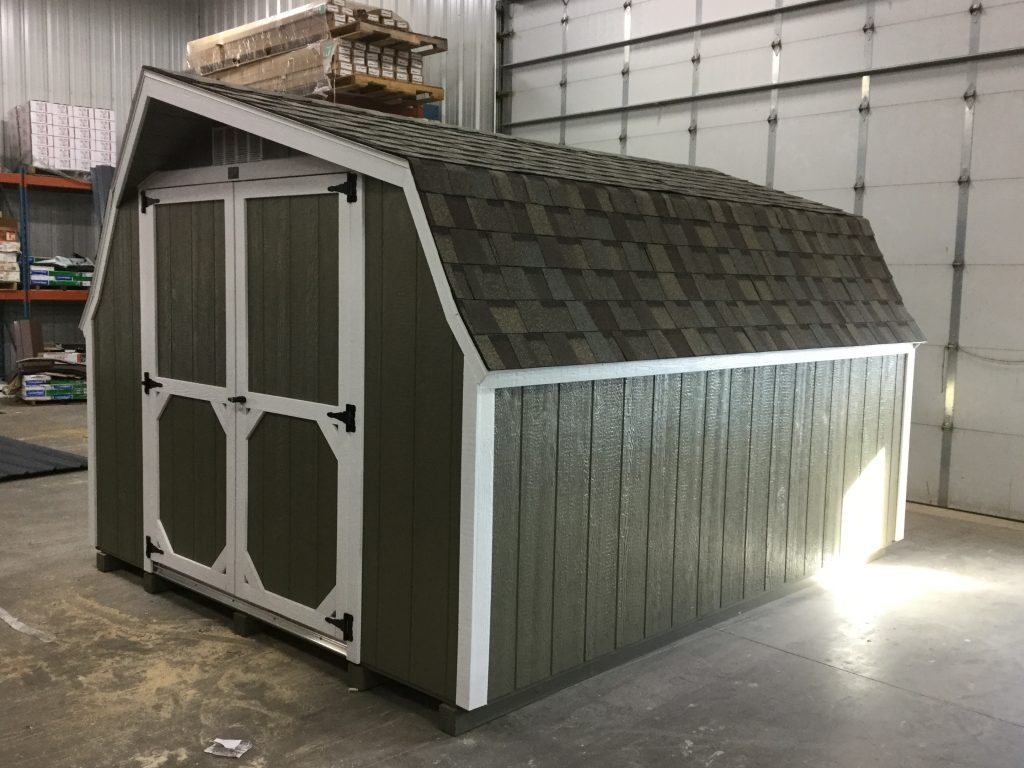 10x12 Low Barn Style Wood Shed For Sale 24574