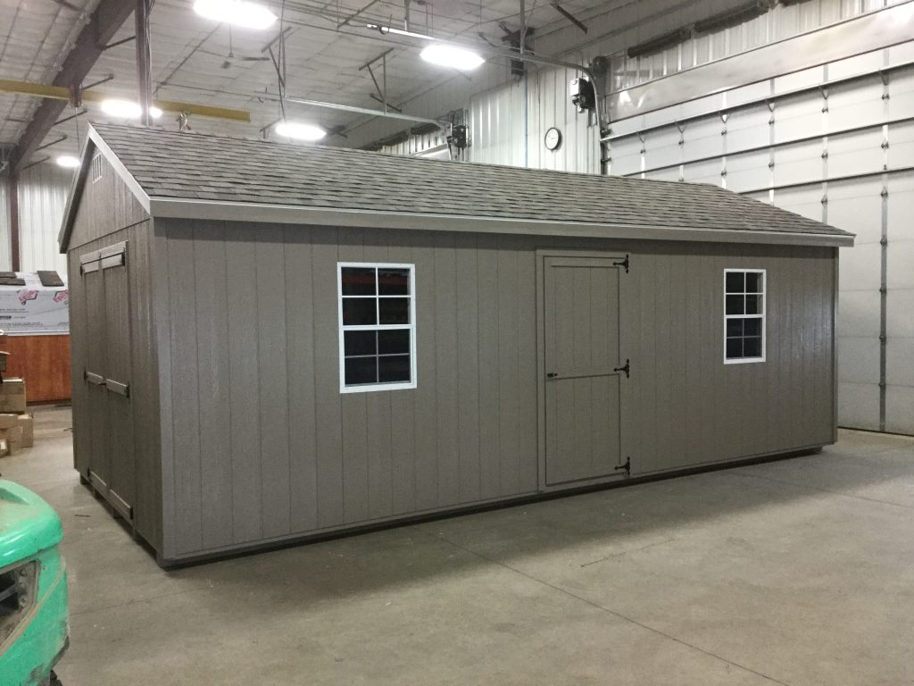 12x24 Economy Ranch Style Wood Shed For Sale 24571