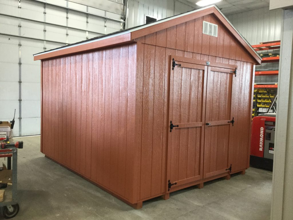 10x12 Economy Ranch Style Wood Shed For Sale 25128