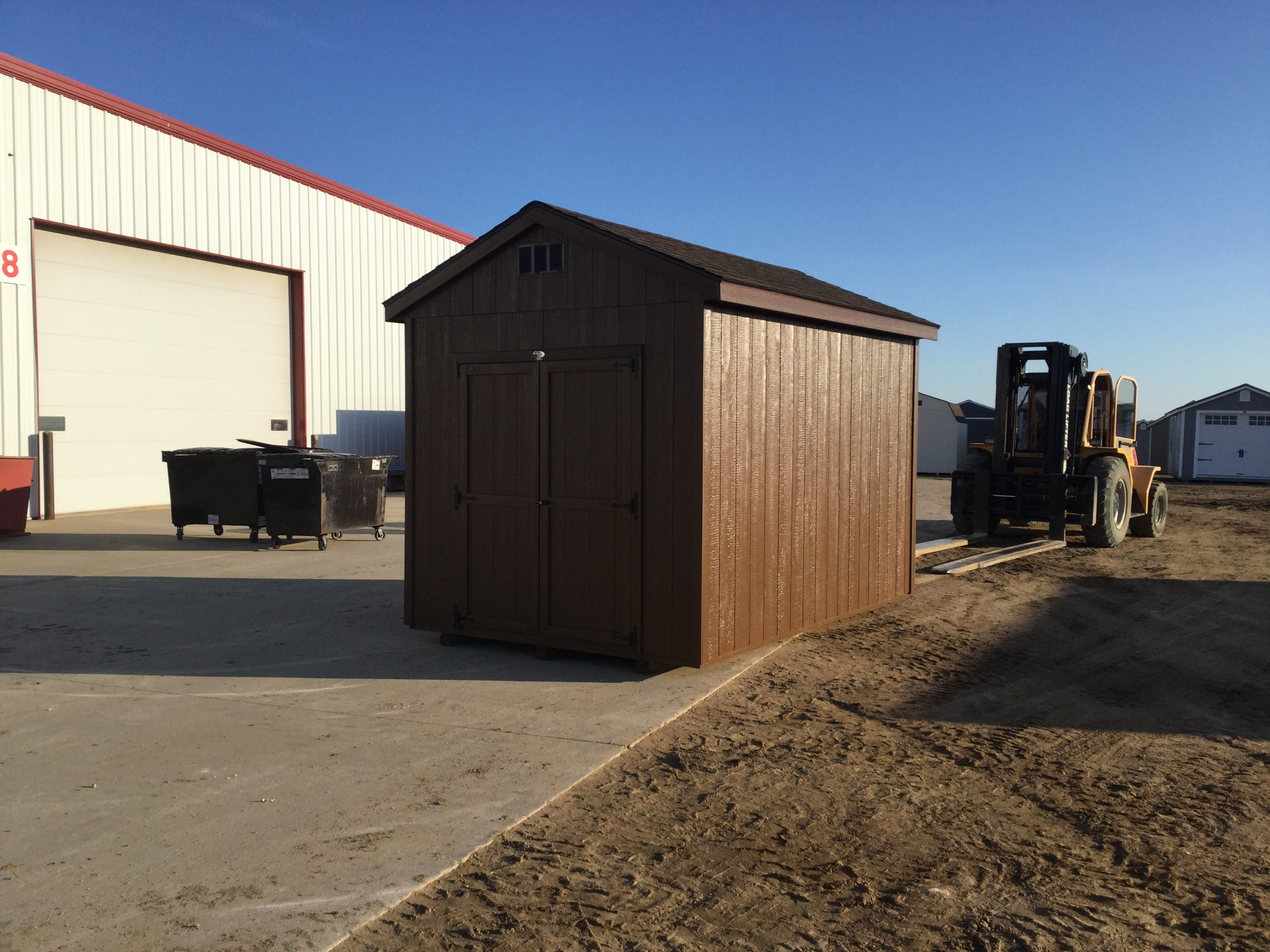 8x12 Economy Ranch Style Wood Shed