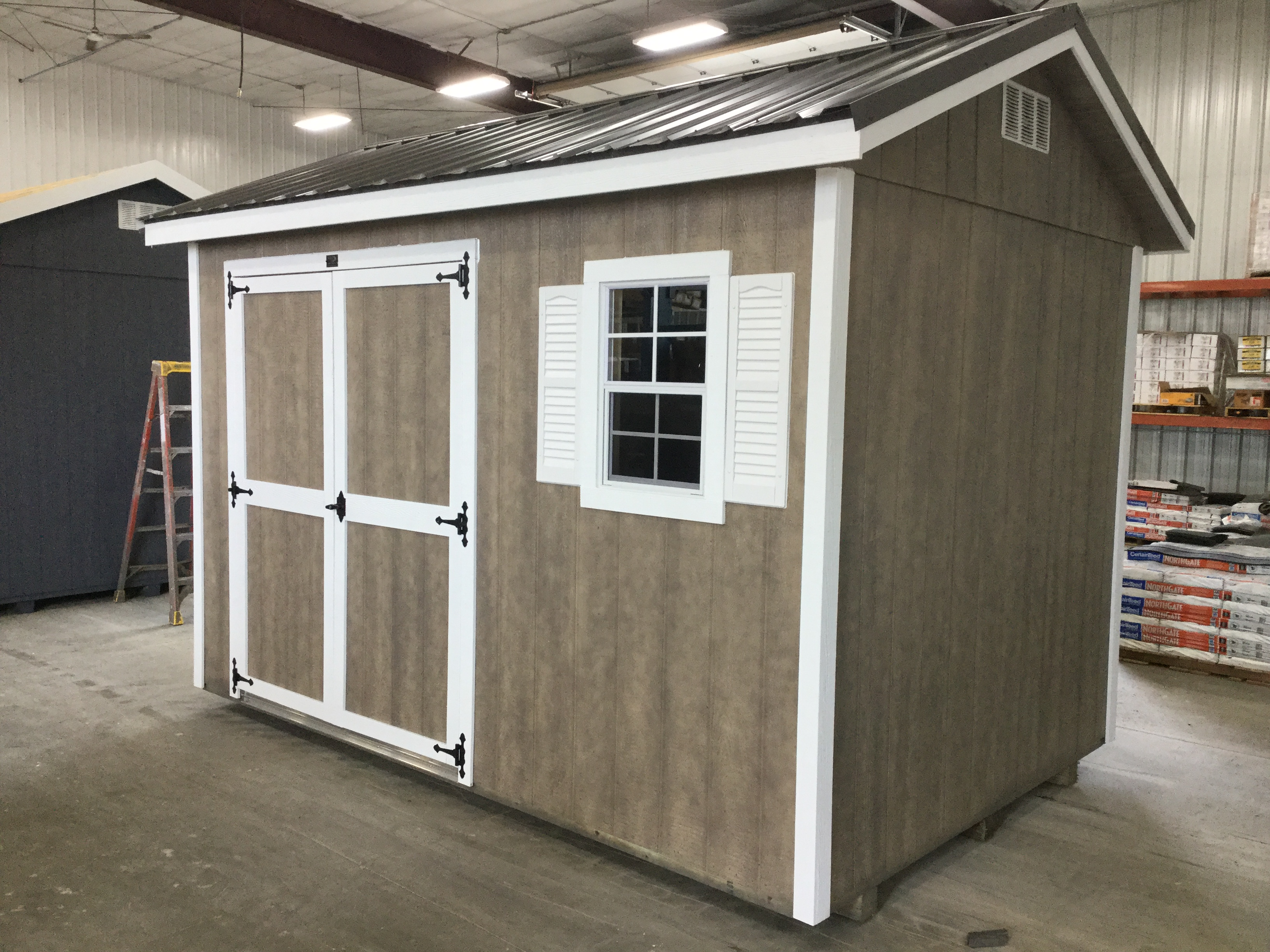8x12 Ranch Style Wood Shed